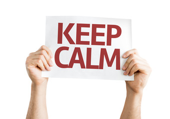 Keep Calm card isolated on white background