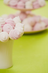 Homemade pink and white marshmallow