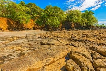 Rocks at the coast in Santa Catalina in Panama.