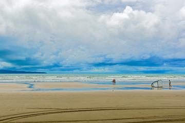 Beach in Santa Catalina in Panama.