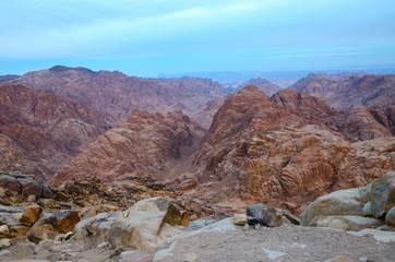 Egypt, Sinai mountains, morning view
