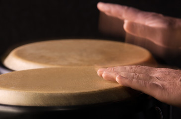 Motion Picture of a bongo Player