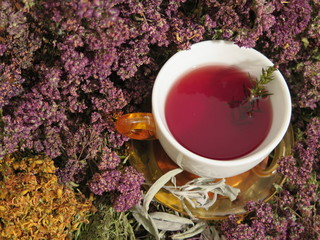 Healing herbs and healty tea