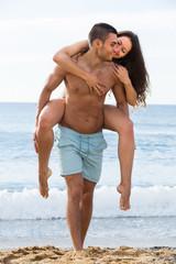 Adult couple on the beach