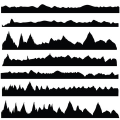 mountain silhouettes