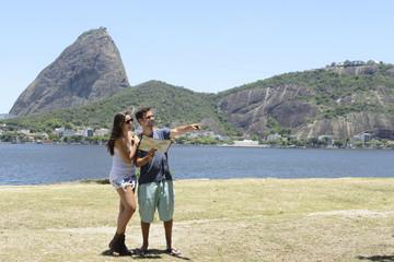 Tourist couple in Rio de Janeiro