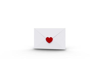 Envelope opening to reveal copy space with love hearts