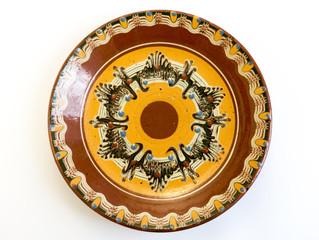 Traditional Bulgarian painted ceramic plate
