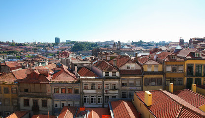 Aerial view on the center of Porto, Portugal