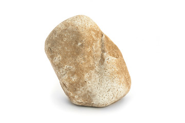 stone on white background
