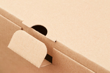 Fragment of a cardboard box, abstract background