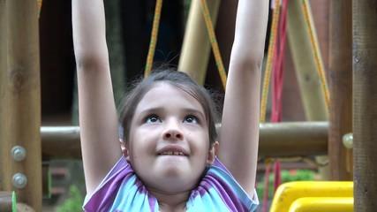 Girl Playing, Having Fun, Childhood