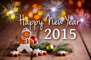 Happy New Year 2015 - Grußkarte