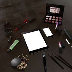 Mockup business template. make-up
