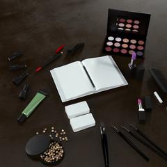 Mockup business template. make-up