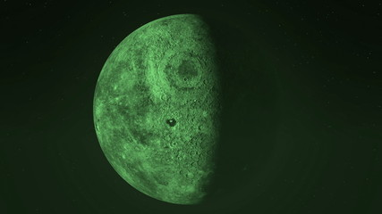 Animation of green moon through all of the phases