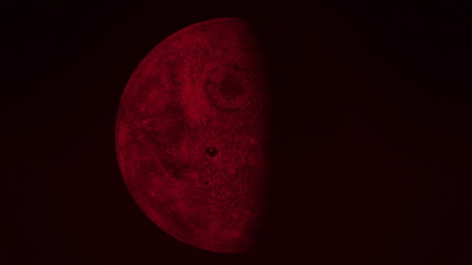 Animation of red moon through all of the phases