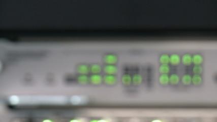 On management module flashing warning LED