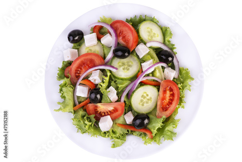 Fresh healthy salad - 75152188