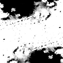 Black messy ink texture with spots and splotches