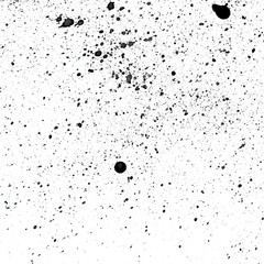 Spray of black ink. Spots texture.