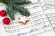 Leinwandbild Motiv Weihnachtssingen