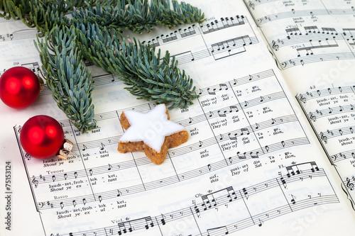Leinwanddruck Bild Weihnachtssingen