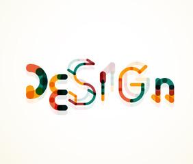 Design word font concept