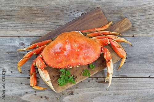 Plakat Cooked Crab on Server board