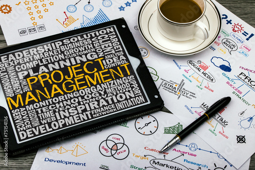 project management concept - 75154136