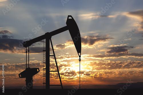 Leinwandbild Motiv Oil pump