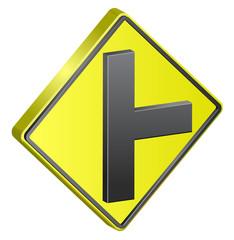 T Junction street sign