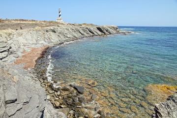 Far de Favaritx, lighthouse in Minorca, Balearic islands, Spain