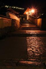 夜の二月堂裏参道