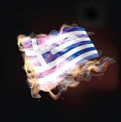 Greece Flag Burning