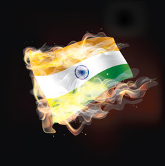 Indian flag burning