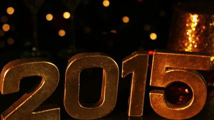 Golden Happy new Year 2015