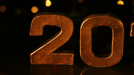 Large 2015 sign for new year