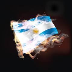 argentina flag burning