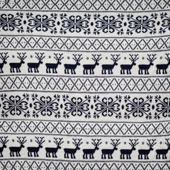 seamless winter sweater  knitted pattern with deer and snowflak