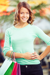 Girl with shopping-bags