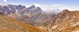 Panorama of the mountains. Lake Kulikolon. Pamir, Tajikistan. HD
