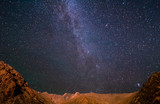 Milky Way over the mountains. Pamir, Tajikistan - 75157598