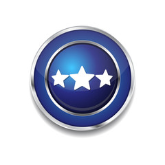 3 Star Blue Vector Icon Button