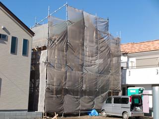 建設中の木造住宅