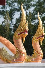 Thai dragon or king of Naga statue.