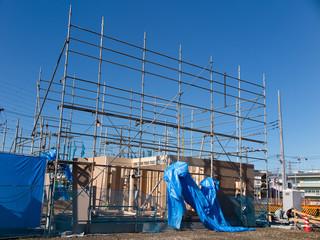 住宅建設現場
