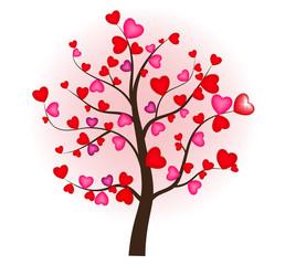 День Валентина. Дерево. Сердце. Любовь. Дерево любви.