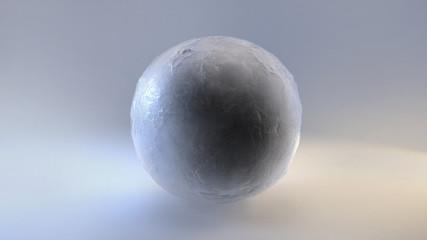 studio cam shot of ice globe