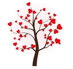 Дерево любви. День Валентина. Сердце. Любовь.